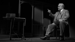 Philip Seymour Hoffman in Death of a Salesman, directed by Mike Nichols. The play, Hoffman and Nichols are favorites to take home awards.