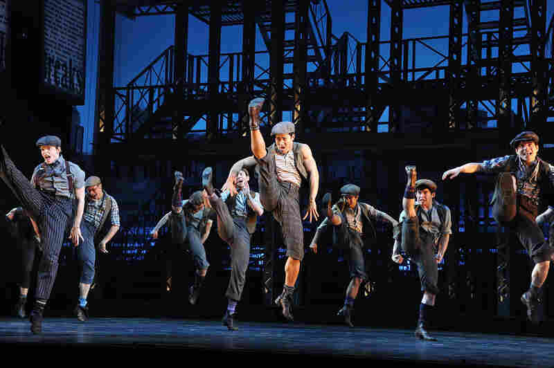 "The idea behind Ost's design was to keep the set out of the way of the storytelling --€"" and of Newsies' kinetic ensemble."