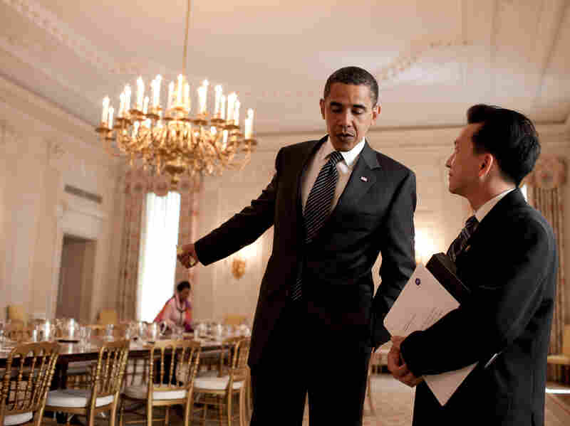 """Rep. Anh """"Joseph"""" Cao meets with President Obama on June 25, 2009. Cao was the only Republican to support the health care legislation introduced by House Democrats that year."""