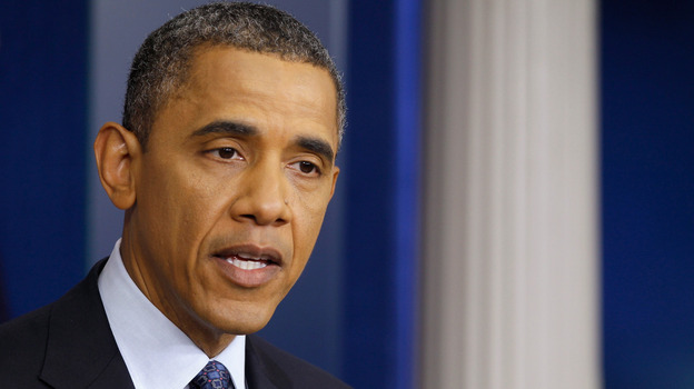 President Obama during this morning's news conference at the White House. (Getty Images)