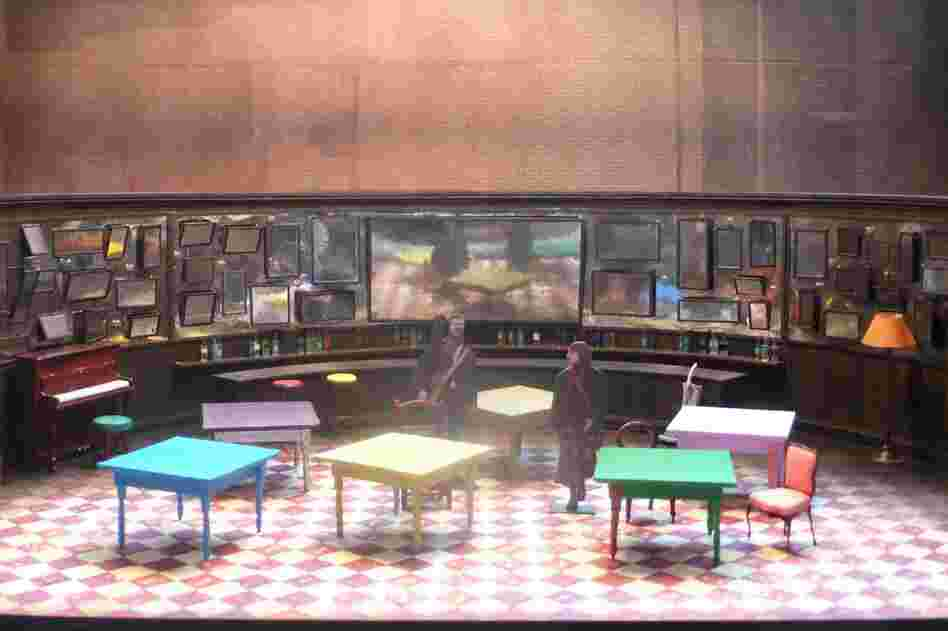 Designer Bob Crowley modeled the set for Once on a pub — because the play's original venue had a built-in bar.