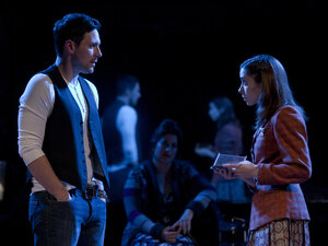 Steve Kazee and Cristin Milioti in Once, a musical based on the cult-favorite Irish indie movie. The show received 11 nominations, leading the Tonys pack this year.