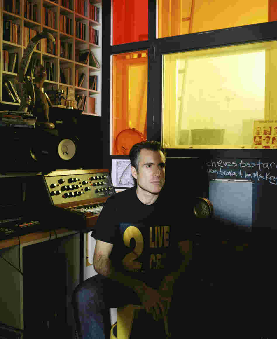 XL Recordings founder Richard Russell in his home studio in West London.