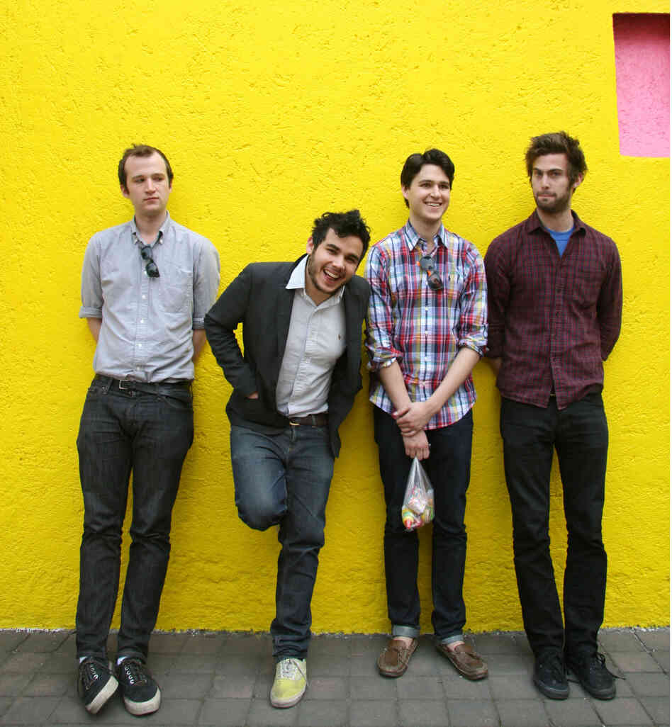 Vampire Weekend (from left: Chris Baio, Rostam Batmanglij, Ezra Koenig, Christopher Tomson) signed with XL Recordings in 2007.