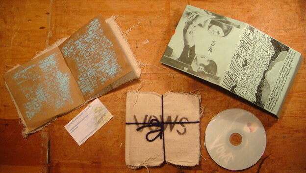 The handmade album art of Vows.
