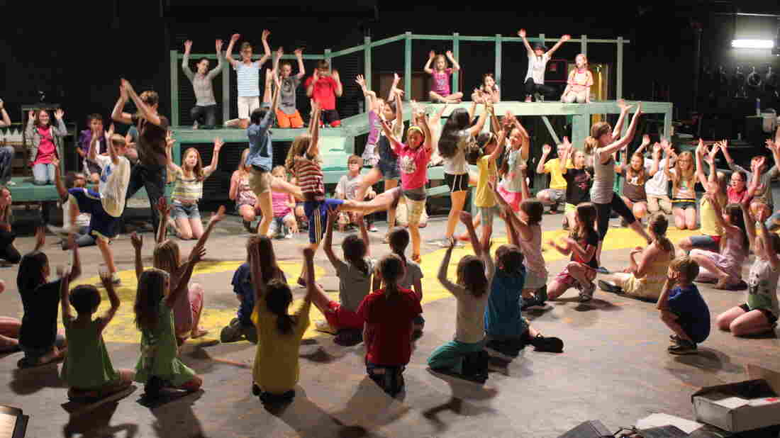 Children rehearse for a production of The Wizard of Oz at the Lawrence Arts Center in Lawrence, Kan.