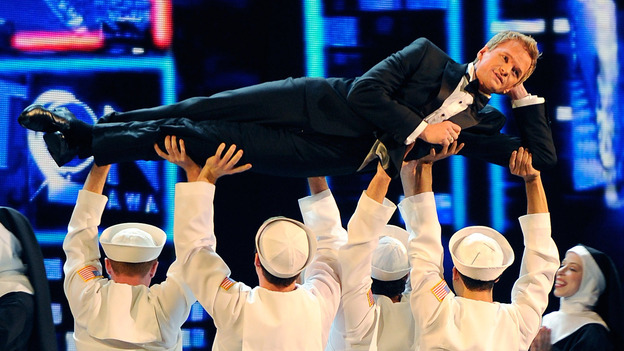 Neil Patrick Harris performs at the 2011 Tony Awards in June of last year. He will host again Sunday night. (Getty Images)