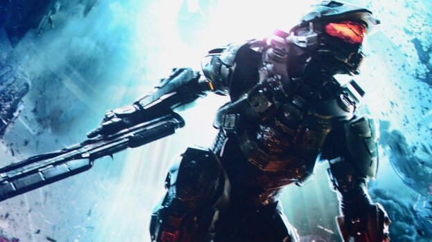 A scene from the new version of video game Halo 4, shown at the Microsoft Xbox E3 2012 media briefing.