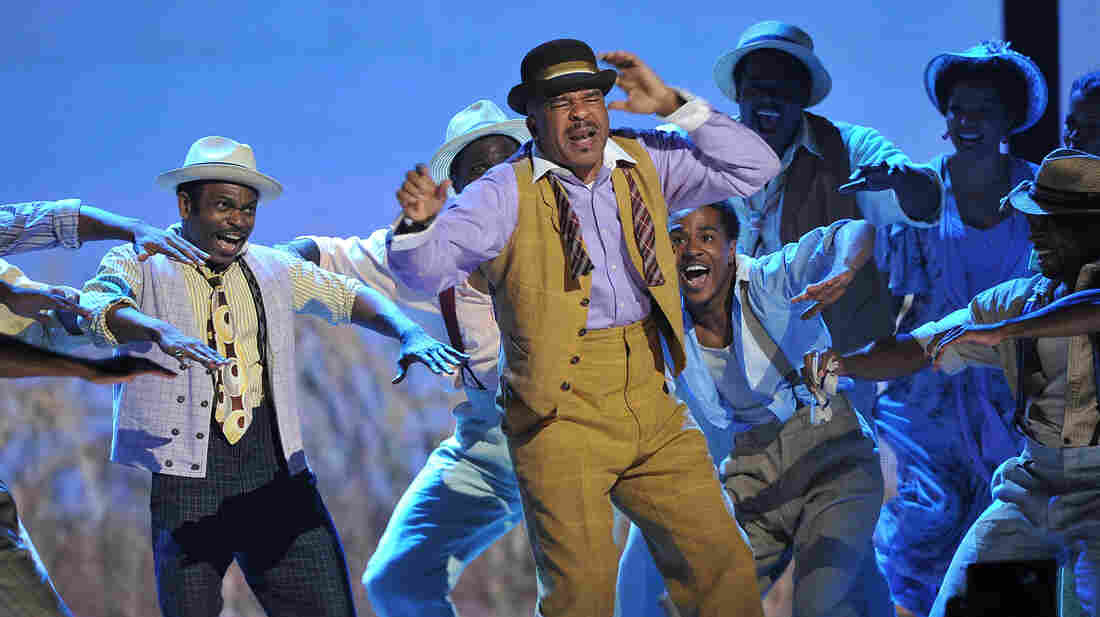 "David Alan Grier dazzled audiences last night in ""It Ain't Necessarily So,"" part of a song medley from best musical-revival winner Porgy and Bess."