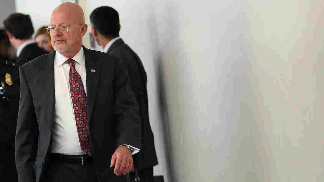 James Clapper, director of national intelligence, leaves a closed-door joint meeting with the Senate and House Intelligence committees on June 7. Clapper ordered an inquiry into security leaks to be concluded next week.