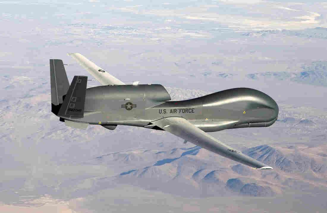 An RQ-4 Global Hawk unmanned aircraft.