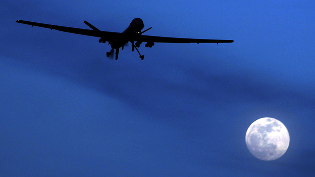 An unmanned U.S. Predator drone flies over Kandahar Air Field in southern Afghanistan on Jan. 31, 2010. Drones have become the U.S. weapon of choice in the fight against terrorism. But as the technology of this new form of warfare improves, so do concerns about how others will use it in the future. (AP)
