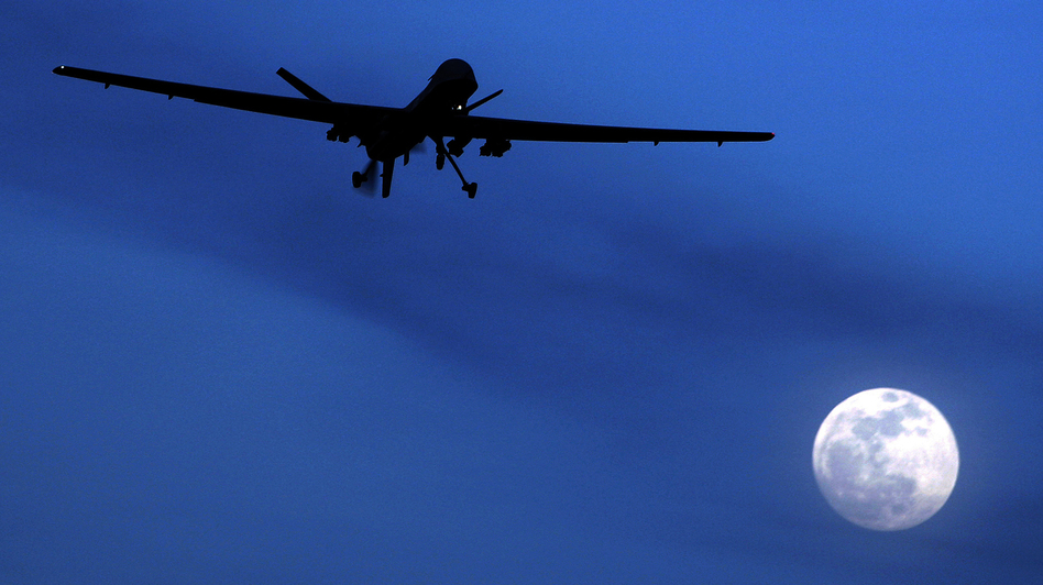 An unmanned U.S. Predator drone flies over Kandahar Air Field in southern Afghanistan on Jan. 31, 2010. Drones have become the U.S. weapon of choice in the fight against terrorism. But as the technology of this new form of warfare improves, so do concerns about how others will use it in the future.