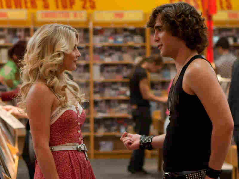 Julianne Hough and Diego Boneta as small-town girl Sherrie Christian and city boy Drew, who follow the typical boy-meets-girl love story in Rock of Ages.