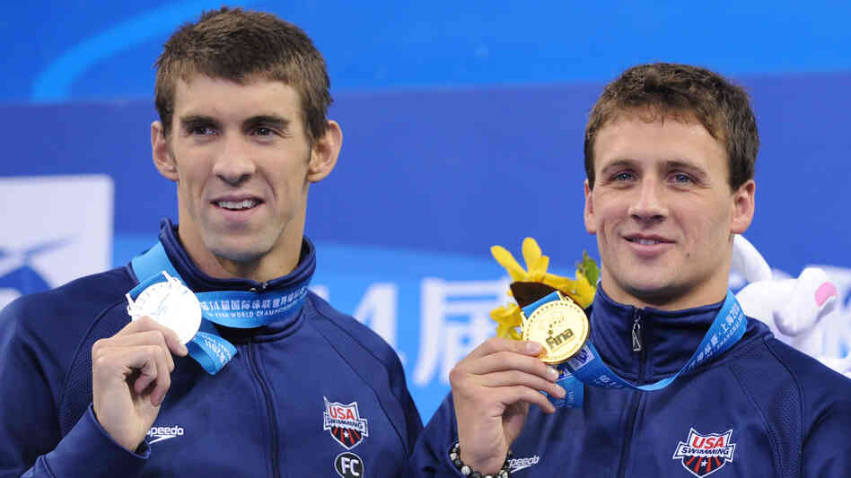 Superstar swimmers Michael Phelps (left) and Ryan Lochte are versatile and talented, making spots on the U.S. men's Olympic team scarce. The pair took silver and gold, respectively, in the 200-meter individual medley at last summer's World Championships.