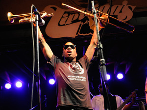 Trombone Shorty and Orleans Avenue perform at the famous New Orleans jazz bar Tipitina's.