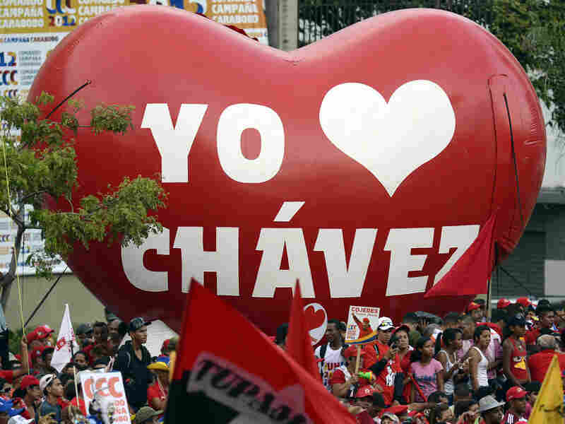 Thousands of Chavez followers took to the streets of Caracas for Monday's rally.