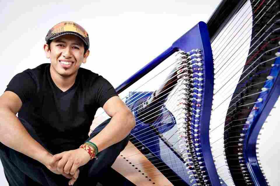 Edmar Castañeda's new album is titled Double Portion.