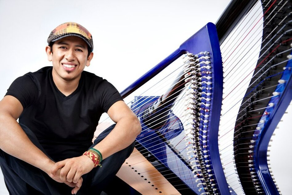 Edmar Castañeda's new album is titled <em>Double Portion.</em>