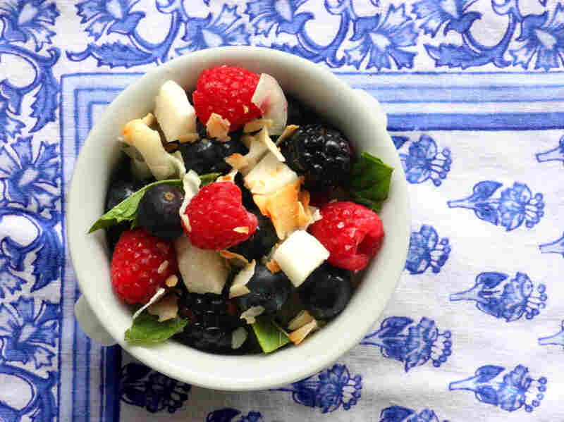 Crunchy Coconut-Berry Salad