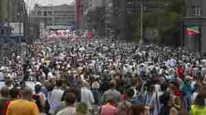 Russian Protest Draws Tens Of Thousands, Opposition Leaders Questioned