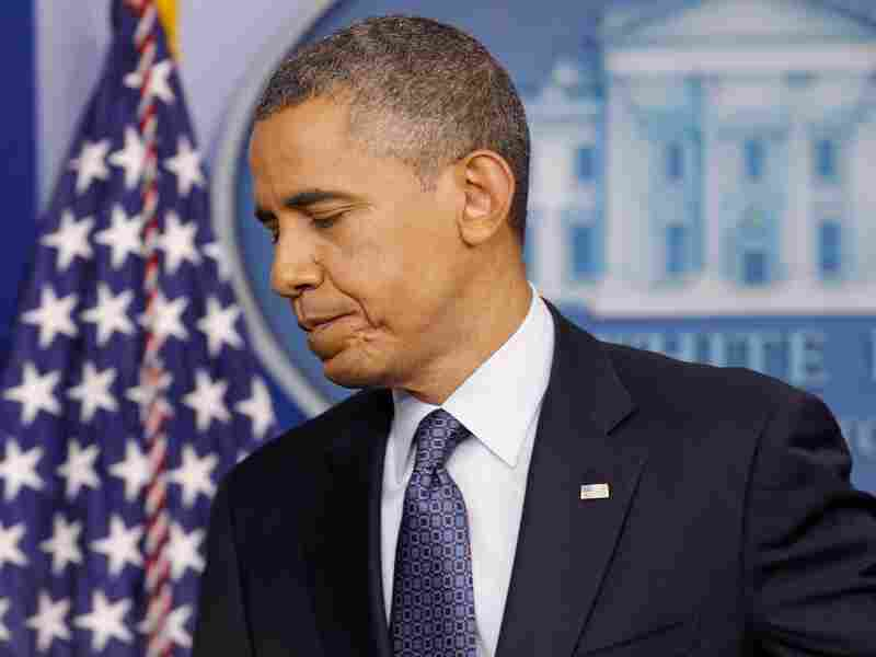 President Barack Obama leaves after a news conference in the Brady Press Briefing Room at the White House June 8, 2012 in Washington, D.C. He has faced sharp criticism of his economic policies since last month's disappointing jobs numbers.