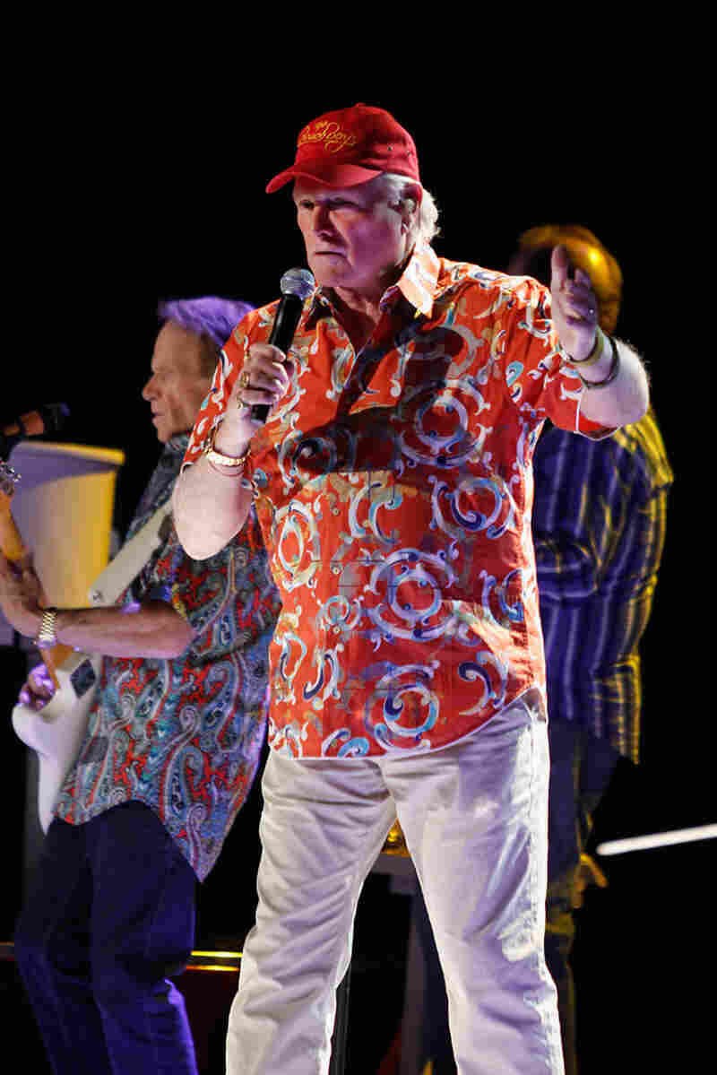 TUCSON, AZ - APRIL 24: Musician Mike Love performs during the Beach Boys 50th Anniversary Concert Tour at Anselmo Valencia Amphitheater on April 24, 2012 in Tucson, Arizona. (Photo by Mike Moore/Getty Images)