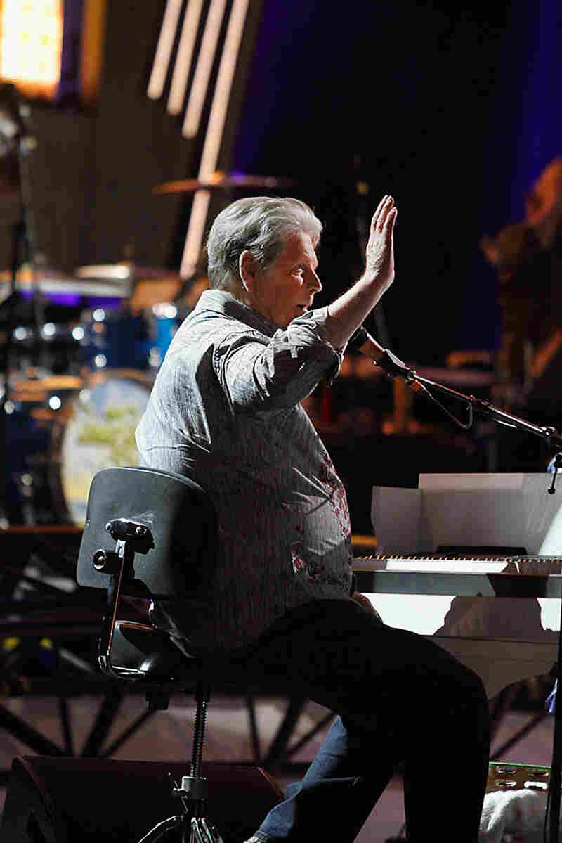 TUCSON, AZ - APRIL 24: Musician Brian Wilson performs during the Beach Boys 50th Anniversary Concert Tour at Anselmo Valencia Amphitheater on April 24, 2012 in Tucson, Arizona. (Photo by Mike Moore/Getty Images)