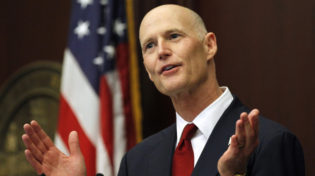 """Not one U.S. citizen has been eliminated from the voter rolls,"" Florida Gov. Rick Scott tells NPR's Michel Martin. ""Not one."" (AP)"