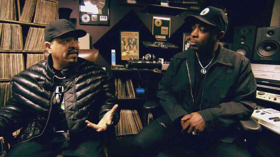 Ice-T (left) with Chuck D in a still from his documentary From Something to Nothing: The Art of Ra