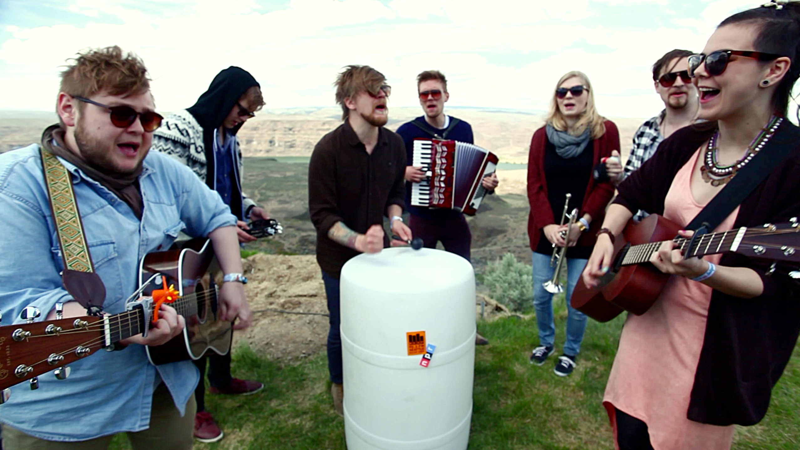 Of Monsters And Men perform a Field Recording backstage at Sasquatch! Music Festival on Friday, May 25, 2012.
