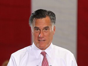 Republican presidential candidate Mitt Romney speaks during a campaign rally at Somers Furniture on May 29 in Las Vegas, Nev. Romney says he will create over 11 million jobs in his first term, but many economists say they need to see more details than his plan plan provides to assess the claims.