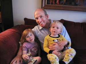 Despite being single, B.J. Holt decided to start a family on his own. Christina (left) and brother Payson were born via an egg donor and surrogate mother.