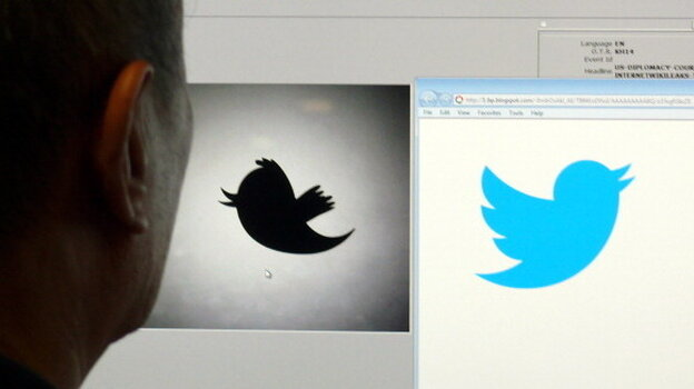Twitter unveiled an updated logo (right) on June 6 as the trademark symbol for the fast-growing company.