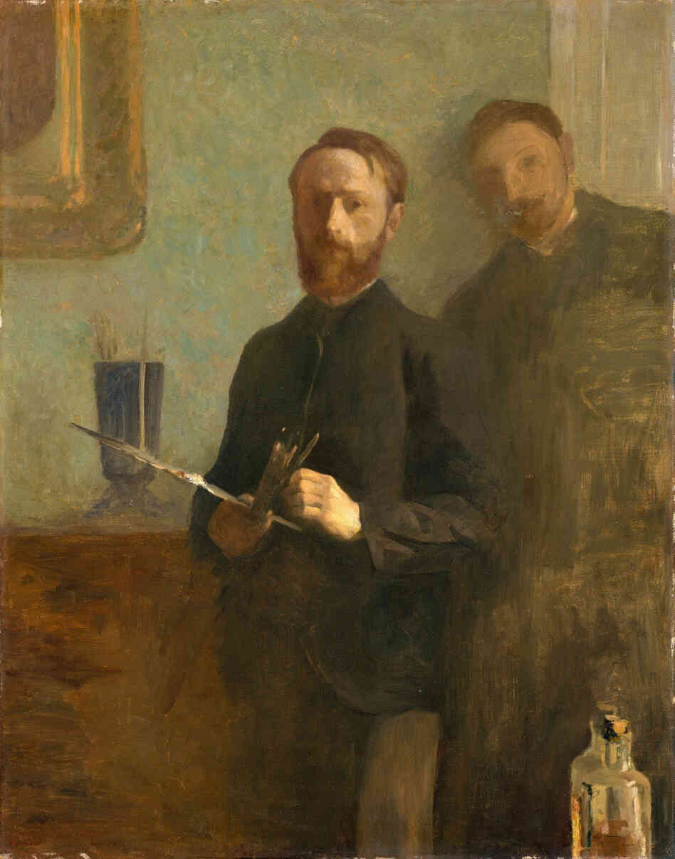 Self-Portrait with Waroquy, 1889, oil on canvas