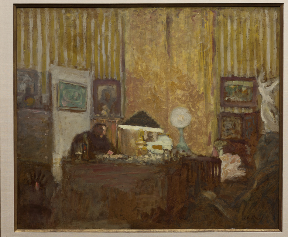 Thadee Natanson, depicted here at his desk in an Edouard Vuillard oil painting from 1899, was from a prominent family of bankers. He was one of Vuillard's loyal supporters and helped the artist achieve recognition in Paris in the 1890s. (Courtesy The Jewish Museum)