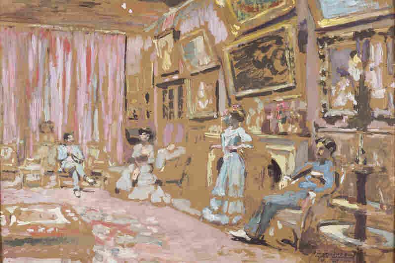 Jos Hessel was senior partner at the Bernheim-Jeune gallery, where Vuillard began exhibiting his work in the early 1900s. Messieurs and Mesdames Josse and Gaston Bernheim-Jeune, Avenue Henri-Martin, 1905, oil on cardboard, on panel.