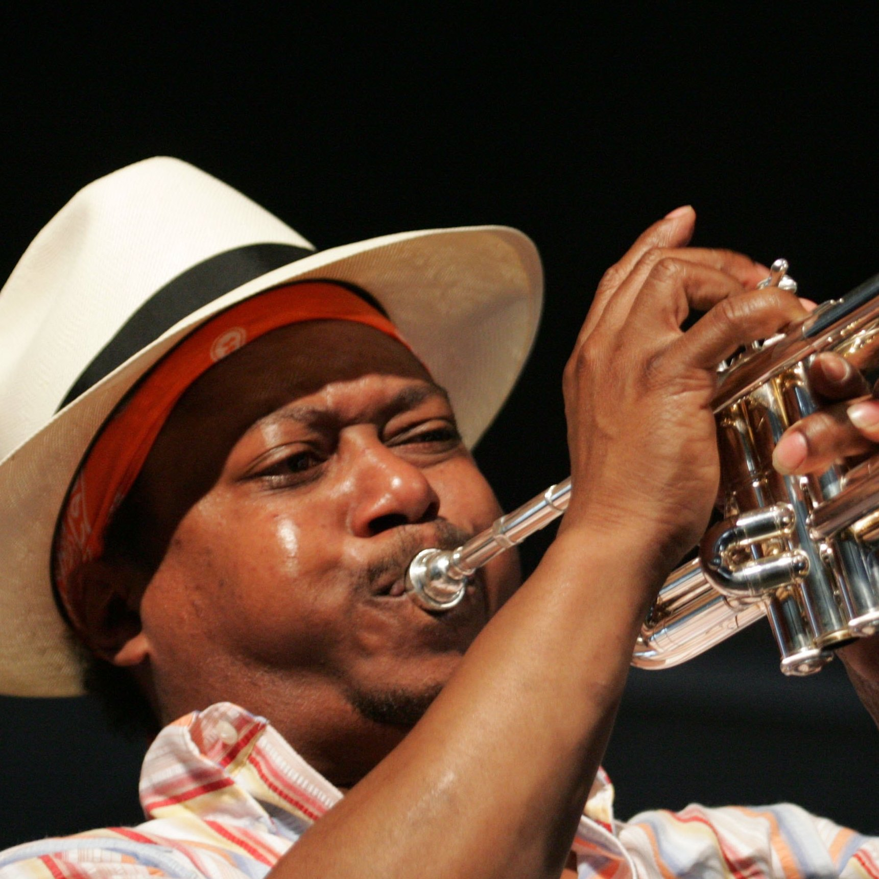 Kermit Ruffins, seen frequently on HBO's Treme, performs around town in New Orleans every week with his band, the BBQ Swingers.