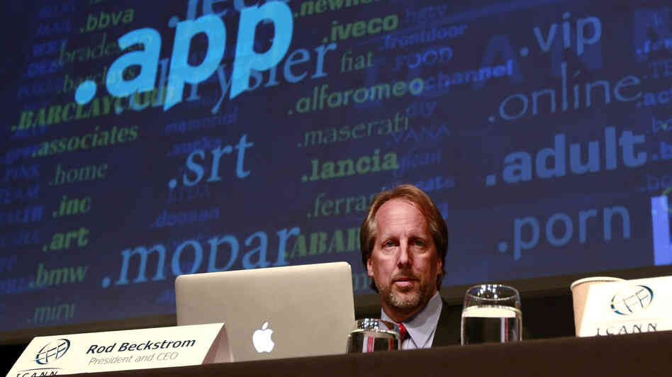 "ICANN President and CEO Rod Beckstrom unveiled nearly 2,000 proposed new ""top-level"" domain names during a press conference in London Wednesday."