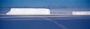 Walking to the Iceberg, Cape Washington, Antarctica, 2006