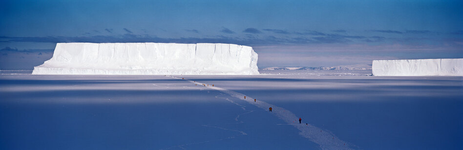 Walking to the Iceberg, Cape Washington, Antarctica, 2006 (Camille Seaman)