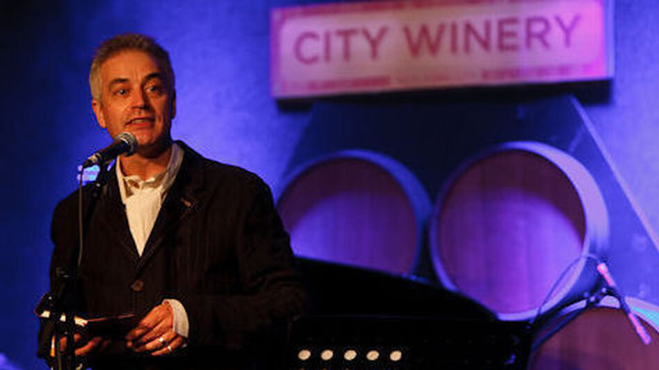 Host John Wesley Harding on the Cabinet of Wonders at City Winery in Brooklyn, NY. (Courtesy of Cabinet of Wonders)