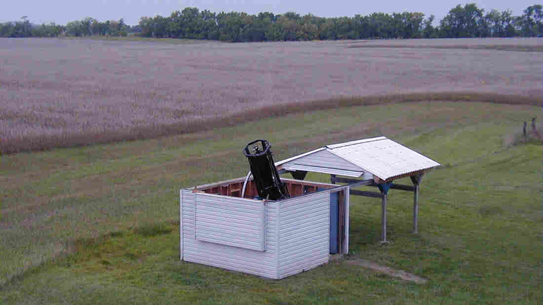 Gary Hug built what he calls the Sandlot Observatory, with its 22-inch reflector telescope, behind his house near Topeka, Kan.