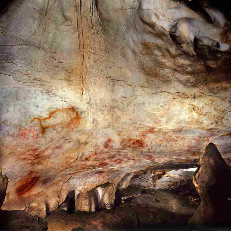 """A general view of the Cave of El Castillo in Spain. Archaeologists say they can't be 100 percent sure the paintings were drawn by Neanderthals, but there's a """"strong probability."""""""