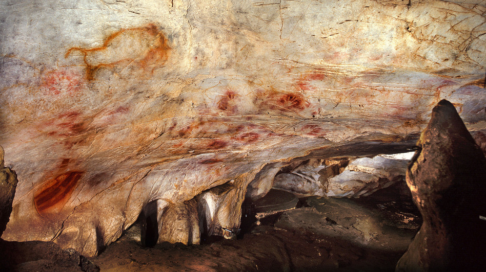 "A general view of the Cave of El Castillo in Spain. Archaeologists say they can't be 100 percent sure the paintings were drawn by Neanderthals, but there's a ""strong probability."" (AAAS/Science)"