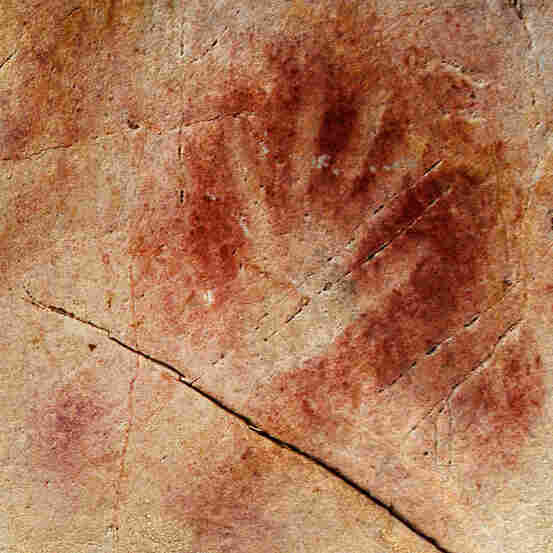 The Panel of Hands in the Cave of El Castillo in Spain. New dating methods suggest the paintings could have been drawn by Neanderthals, not humans, as previously thought.