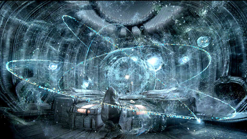There's plenty of starfield action going on in Prometheus.