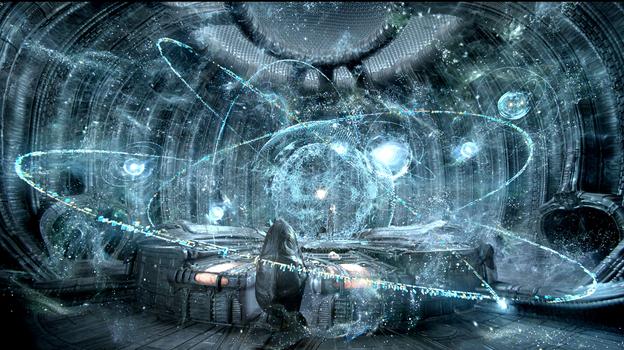 There's plenty of starfield action going on in Prometheus. (Twentieth Century Fox)