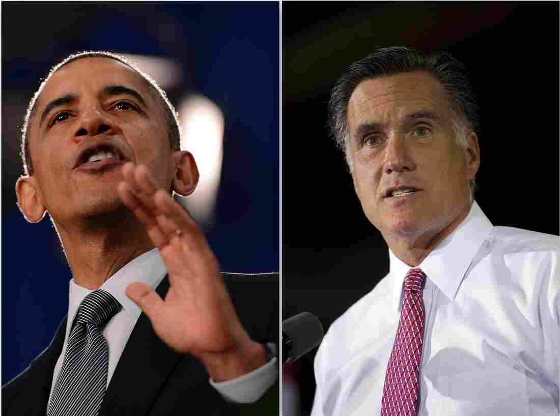 President Obama and Mitt Romney in Ohio, June 14, 2012.