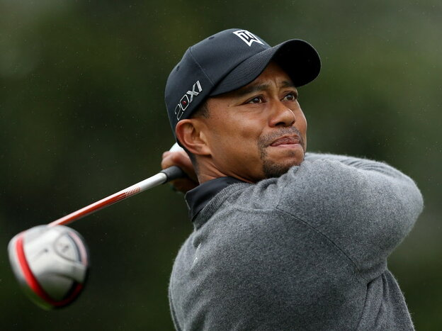Tiger Woods during a practice round Wednesday at The Olympic Club in San Francisco.